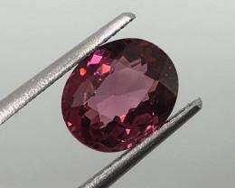 2.42 Carat VS Rhodolite Garnet Reddish Pink  - Amazing Color and Sparkle !
