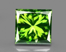 0.68 CT  FANCY INTENSE LIME GREEN DAIMOND BORNEO MINE GD1