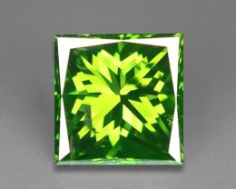 0.63 CT FANCY INTENSE LIME GREEN DAIMOND BORNEO MINE GD5