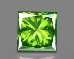0.51 CT FANCY INTENSE LIME GREEN DAIMOND BORNEO MINE GD6