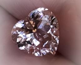 A Mastercut Silver Salmon Pink Morganite VVS Jewellery Grade Beauty