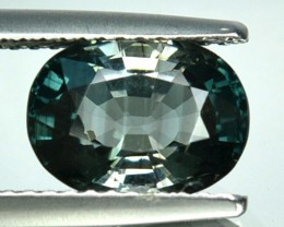 2.44 Cts Natural Bluish Green Tourmaline Oval Mozambique