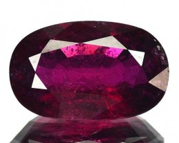 3.17 Cts NATURAL PINK  RUBELITE TOURMALINE OVAL MOZAMBIQUE