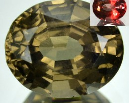 2.11 Cts Natural Color Change Garnet Oval Cut Tanzanian Gem