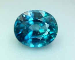 3.45 Cts Blue Zircon Awesome Color ~ Cambodia Pv.6