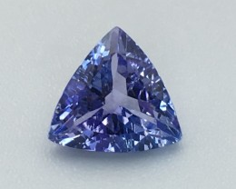 1.05 Cts Tanzanite Faceted Gemstone Awesome Color & Cut ~ Pv.6