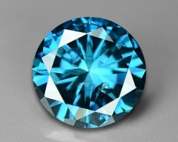 0.61 CT DAIMOND SPARKLING BLUE COLOR BD1