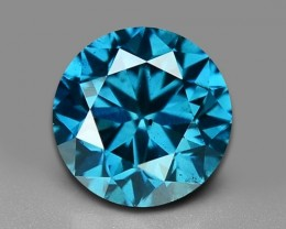 0.52 CT DAIMOND SPARKLING BLUE COLOR BD5