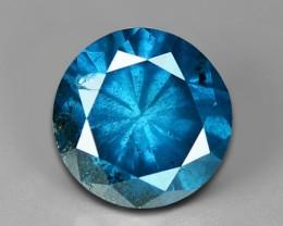 0.52 CT DAIMOND SPARKLING BLUE COLOR BD7