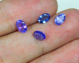 2.12Cts Natural Purple Blue Tanzanite 4pcs
