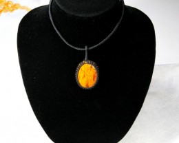 Handcrafted Macrame Pendant / Necklace Cabochon Stone