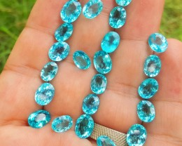 40 CARATS ROYAL BLUE COLOR APATITE LOOSE GEMSTONES