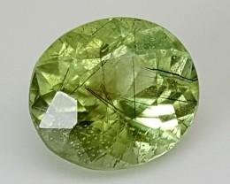 3.85Crt Rutile Peridot  Best Grade Gemstones JI17