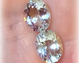Glittering Extreme Luster Silver Aqua Aquamarine Gems 10 x 8.0mm