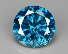 0.49 Cts Natural Blue Diamond Round Africa