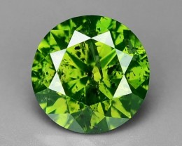0.62Cts Natural Green Diamond Round Africa