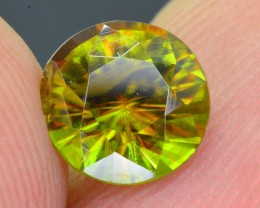 1.25 Ct Top Fire Diamond Cut Natural Green Sphene ~ Skurdu Pakistan