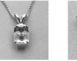 8mm .925 Sterling Silver Medium Tourmaline Pendant Setting