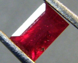 CRYSTAL CLEAR VS GRADE SPARKLING RED RUBY 0.90 CTS RM 286