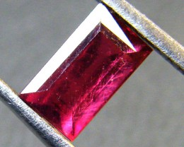 CRYSTAL CLEAR VS GRADE SPARKLING RED RUBY 1.25 CTS RM 289