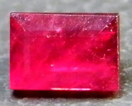 F/S CRYSTAL CLEAR VS GRADE SPARKLING REDRUBY 0.80 CTS RM 308