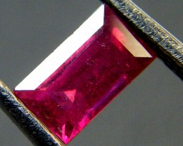 F/S CRYSTAL CLEAR VS GRADE SPARKLING REDRUBY 0.80 CTS RM 309