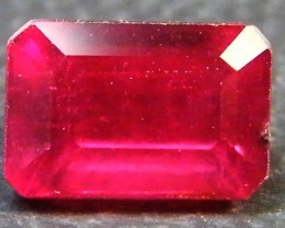 CRYSTAL CLEAR VS GRADE SPARKLING RED RUBY 1.70 CTS RM 350