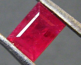 F/S CRYSTAL CLEAR VS GRADE RED RUBY 0.80 CTS RM 352