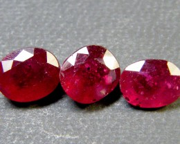 PARCEL BLOOD RED RUBIES 5.50 CTS RM 360