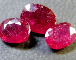 PARCEL BLOOD RED RUBIES 3.50 CTS RM 381