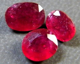 PARCEL BLOOD RED RUBIES 4.30 CTS RM 386