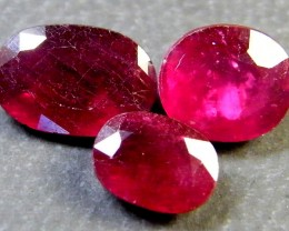 PARCEL BLOOD RED RUBIES 4.30 CTS RM 388