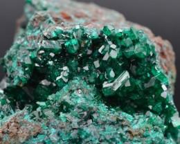Dioptase - 440 grams - Rénéville, Congo - RARE Perfect crystal matrix