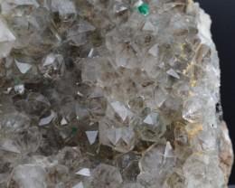 Quartz dioptase, wulfénite planchéite - 475 grams - Renéville, Congo