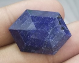 HUGE Blue Sapphire 39.10 Cts Fancy Shape Faceted Treated