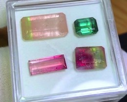 15.65 cts Bicolor Tourmaline Parcel - Wholesale Bargain - AAA Quality
