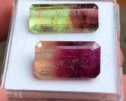 25.20 cts Bicolor Tourmaline Parcel - SUPERSIZE MONSTERS - Best Colors!!