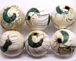 181CTS SHELL BEADS DRILLED (3 PAIR)  ADG-422