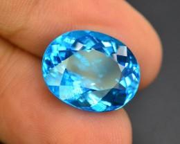 11.10 CT Top Quality  Blue Topaz~VVS