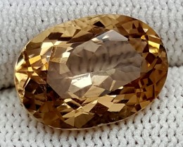 9CT GOLDEN TOPAZ  BEST QUALITY GEMSTONE IGC500