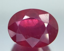 3.30 Crt Composite Ruby Glass Filled Faceted Gemstone (R 12)