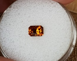 0,90ct Orange Zircon - Master cut!