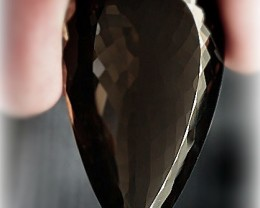 Dark Coffee 183.00ct Natural Smoky Quartz gem Fantastic size