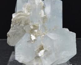 AQUAMARINE 100 grams - RARE lustrous crystals cluster - Pakistan