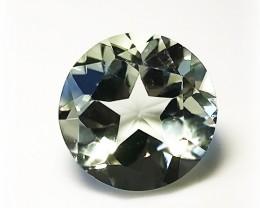 Extremely stunning Star cut Prasiolite (Green Amethyst) Custom Cut gem