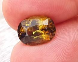 5.40 Ct Natural Brownish Yellow Unique Transparent Tourmaline Gemstone