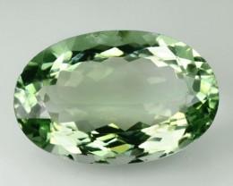 18.10 Cts Natural Green Amethyst/Prasiolite Oval Cut Brazil Gem