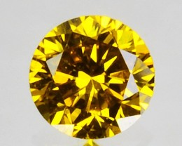 0.095 Cts Natural Sparking Yellow Diamond Round Africa