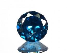 0.10 Cts Natural Titanium Blue Diamond Round Africa