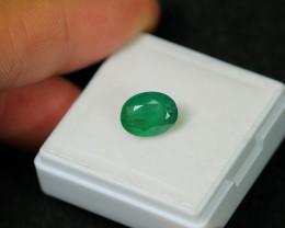 1.91ct Green Zambian Emerald Stone